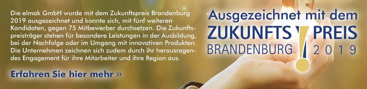 Die elmak Elektroanlagenbau Heizung und Sanitär GmbH wurde mit dem Zukunftspreis Brandenburg 2019 ausgezeichnet.